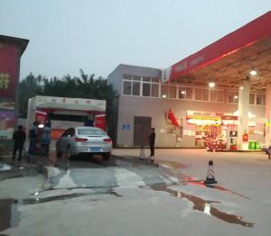 中石化加油站龙门往复式洗车机 安装成功