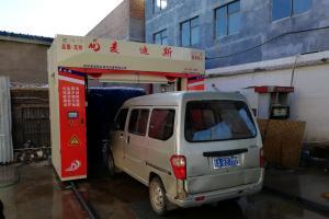 开封杞县中石化竹林加油站龙门往复式洗车机调试成功