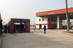 贺长葛市中宏加油站中亚石油安装麦迪斯洗车机调试成功