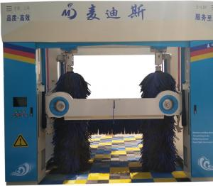 龙门往复式洗车机从背面看洗车全过程