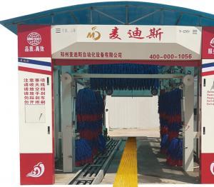 隧道式9刷带风干洗车机洗车全过程